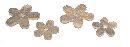 Streusortiment Holzblüten NATUR 1313 030 2,5cm+3cm gemischt