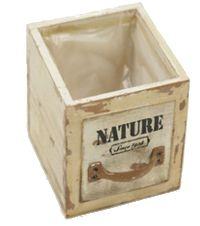 Schubladenbox mit Innenfolie VINTAGE 2005421 Holz NATURE Druck 16x16xH13,5cm
