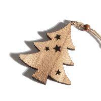 Tanne Stars NATUR 70242 Hänger 6x0,8x6,8cm Holz