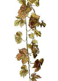 Herbstlaubgirlande GRÜN-BRAUN 00 180cm 85 Blatt 185300
