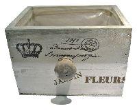 Schubladenbox JARDIN FLEUR VINTAGE 12682 Holz 15x11xH10cm Innenfolie