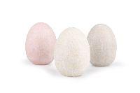 Ei / Dekoei Springtime ROSA-CREME-BRAUN Steinoptik B:5cm H:7cm 7891009 Polyresin