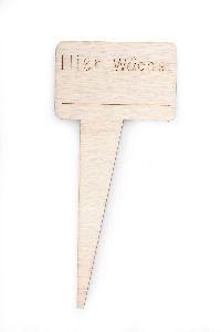 Schild mit Spruch Hier wächst NATUR 7421400 zum Beschriften 5,5x3,5cm GL:12,5cm Holz