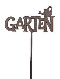 Gartenstecker GARTEN BRAUN 440258 Schriftzug 29,5xH126cm Gusseisen