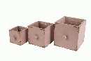 Schublade Antik S/3 ALTROSA 02HAA07 mit Folie quadratisch 9x9x9cm-15x15x15cm