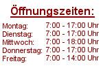 Öffnungszeiten Lager Niedernberg