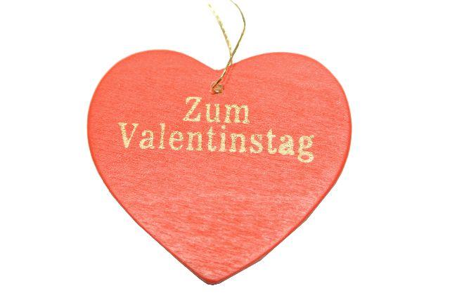 Herzhänger mit Spruch rot-gold / 24 Stück zum hängen 4cm   Zum Valentinstag