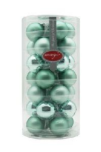 Glaskugeln / Christbaumkugel 15247 Winter Jade - mintgrün 45mm 28Stück GRUEN