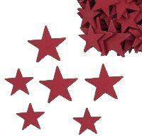 Stern Woody rot   ganze Sterne Streu 3 + 4cm 39186