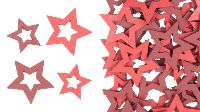 Stern Woody rot-dunkelrot 39494 Streu 3 + 4cm offene Sterne