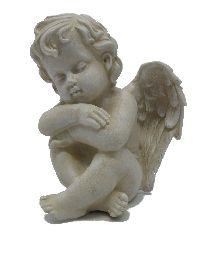 Engel Samuel stein-weiss 13383 14x11x11cm Polyresin