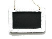 Tafel zum Hängen WEISS-VINTAGE  13238 19,5x1xH13/26,5cm