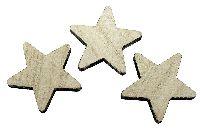 Stern Streu aus Holz NATUR  80642 5x0,7cm  Box=24Stück