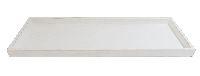 Dekotablett / Holztablett WEISS  10763 49x17x3cm