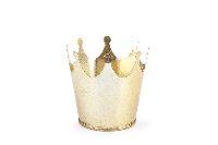 Krone Metall GOLD 6425701 Metallkrone Øoben=8cm/Höhe=7,5cm/Boden:5,5