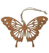 Schmetterling Hänger Rost rost 19168 13x9cm Metall