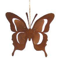 Schmetterling Hänger Rost naturrost 59212 14x13cm Metall