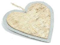 Birkenhänger mit Zink NATUR 22-7915 Herz 20cm zum Hängen