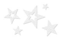 Filzsterne Sortiment WEISS 61905 2 Formen im Set Ø2/3/5/7cm 4 Größen Stärke 3mm