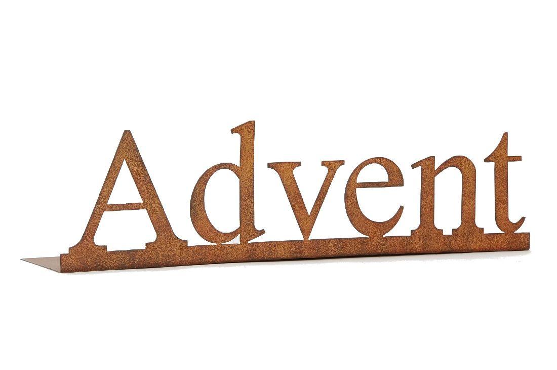 Schriftzug Advent ROST 492405 51x12xH14cm