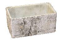 Topf Birke Baumstamm Birke 67531026 Jardniniere Rechteck 26x12x10cm Zement