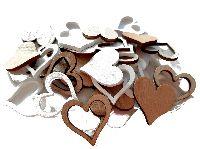 Holz Streuteile Naturstyle WEISS-NATUR 66463 Herzen 2,5x0,3cm