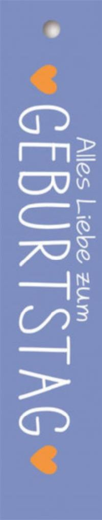 Geschenkkärtchen Alles Liebe zum Geburtstag Blush 3x15cm   7816