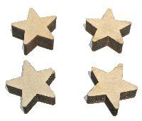 Holz Streuteile NATUR 63928 Sterne 2,5cm
