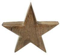 Stern zum Stellen / Holzstern BRAUN  1030890 19,5x5cm  Holz