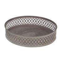 Metalltablett rund 16558 Dekoteller Metallteller Ø22,5 x 5cm Dekotablett
