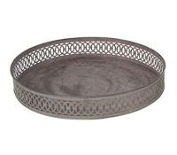Metalltablett rund 16558 Dekoteller Metallteller Ø32 x 5cm Dekotablett