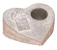 Trauerherz In stillem Gedenken GRAU Zement 53555021 21xH10cm LochØ6,5cm