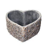 Herzschale Zement 35-826 19,5x18,5x10,5cm (LxBxH)