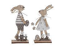 Hasenpaar Osterliebe NATUR 355580 20cm 2erSortierung Mann+Frau