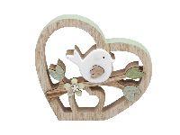 Dekoherz Springtime GRÜN-NATUR-WEISS 355866 14x13cm Holz