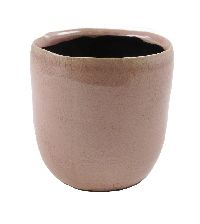 Topf Crackle ROSA GLÄNZEND Keramik Ø7,5xH8cm 52010