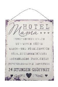 Metallschild Hotel Mama... Vintage 502964 19xH24cm zum Aufhängen