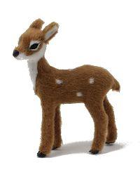 Rehkitz Bambi BRAUN-WEISS 39671 9x7,5x2,5cm mit Kunstfell