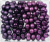 Spiegelbeeren / Glaskugeln 15251 Purple Deluxe Mix 20mm  Draht Spiegelbeeren