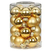 Glaskugel / Christbaumkugel 12004 Gold glanz/matt 30mm 20 Stück
