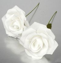 Rose Foam  Schaumrose Foamrose weiß 110185-11 Ø5cm
