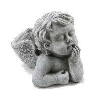 Engel zum Bepflanzen GRAU 14400 Zement 18x13x12cm  Pflanzengel