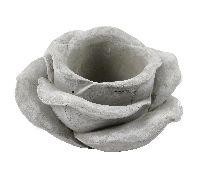 Rose zum Bepflanzen GRAU 14597 Zement 53556020 Ø20x11cm Pflanzrose LochØ10cm