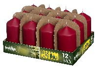 Stumpenkerzen ALTROT 44 H120 Ø60mm ca.30h Brenndauer