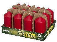 Stumpenkerzen ROT 41 H120 Ø60mm ca.30h Brenndauer
