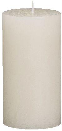 Rustik Kerzen ELFENBEIN 05 ca.54hBrenndauer H130 Ø68mm Flame Stop