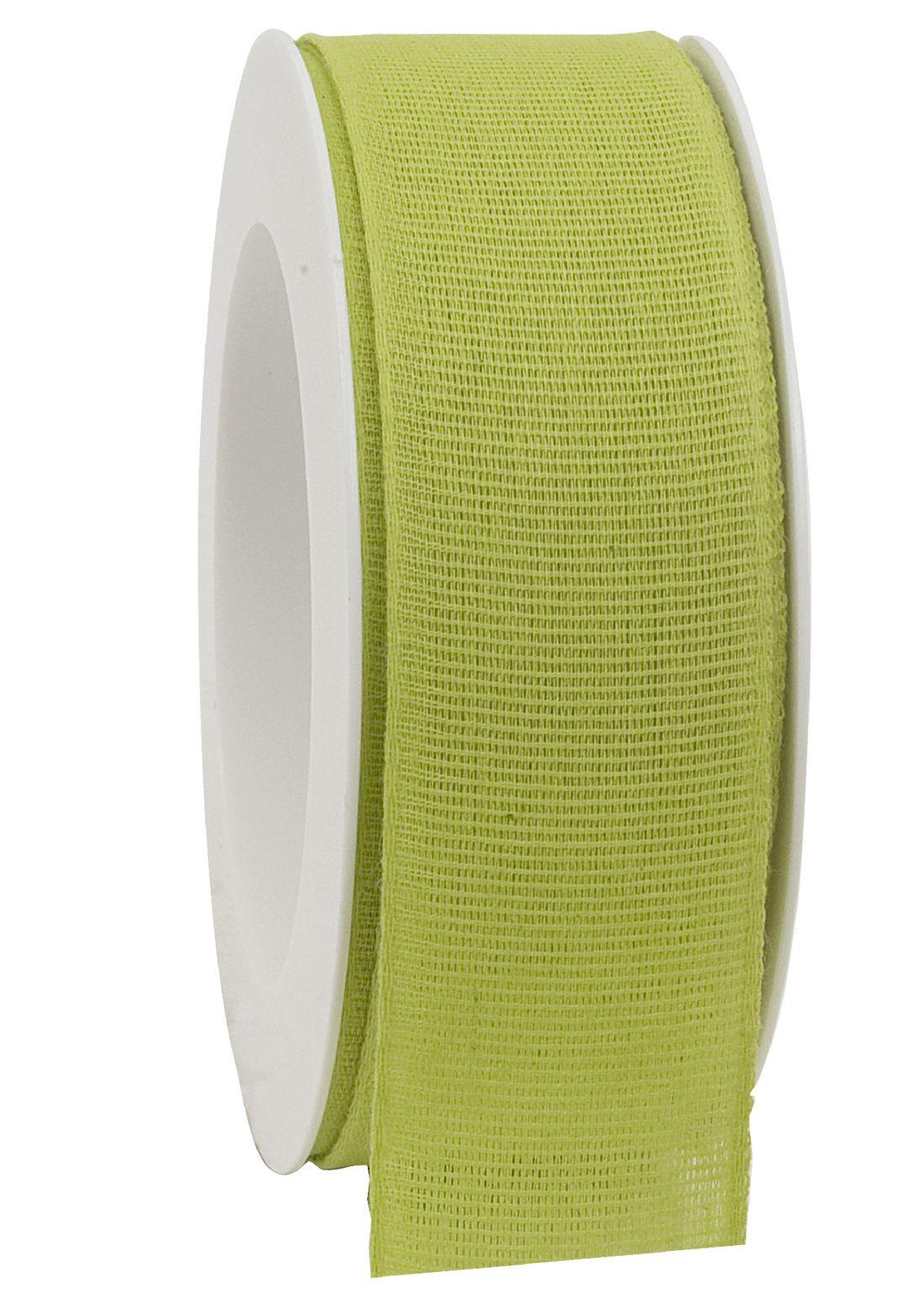 Basicband NATURE grün 53 biologisch abbaubar B:40mm L:20m Baumwollband 267