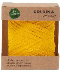 Raffia Band NATURE gelb   biologisch abbaubar B:10mm L: 50 Meter   8207 10