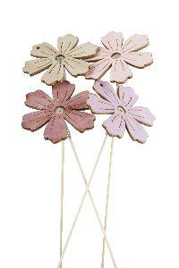 Stecker Harmony rosa-lila-natur-malve 20761230 Blume/Blüte Ø6cm GL:15cm