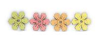 Streusortiment Frühling gelb-grün-orange-pink 20761107 3,5-4cm Blüten/Blumen  Holz